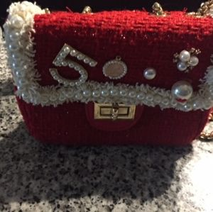 Chanel Charms Red Cocktail Bag